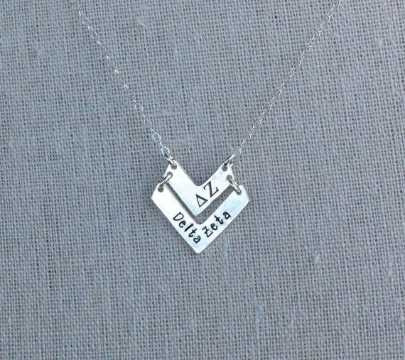 Delta Zeta Necklace, Delta Zeta Jewelry, Officially Licensed sorority jewelry by Tomi's Treasures
