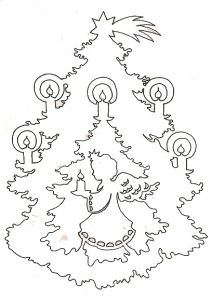 Angel in a candle-lite Tree