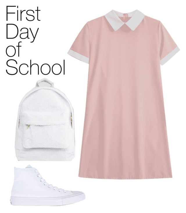 """first day af school"" by geopaganeli on Polyvore featuring Mi-Pac and Converse"