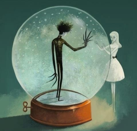 Edward Scissorhands by Benjamin Lacombe