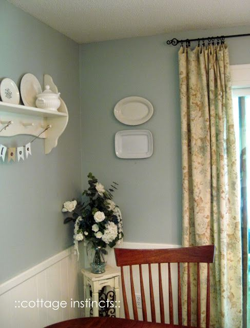 Devine Reflection on the dining nook wall  via cottage instincts: Fallishness 2011. #devinecolor #devinereflection #paint #blue #green