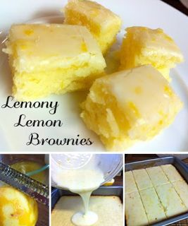 VIP recipes: Lemony Lemon Brownies