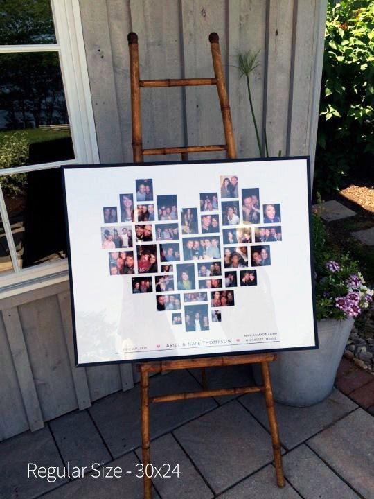 This is the perfect gift from the Bridesmaids and the Maids of Honor. We gathered 40 photos between us and gave this really personalized gift that meant a lot to the bride. Find it on Etsy!