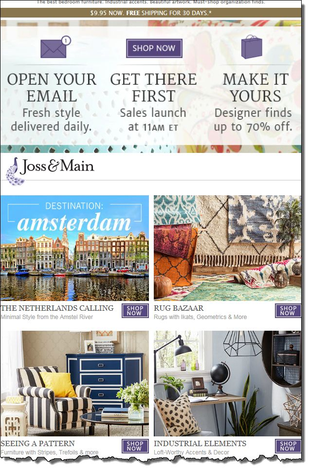 13 best images about welcome emails best email campaigns for Joss and main contact