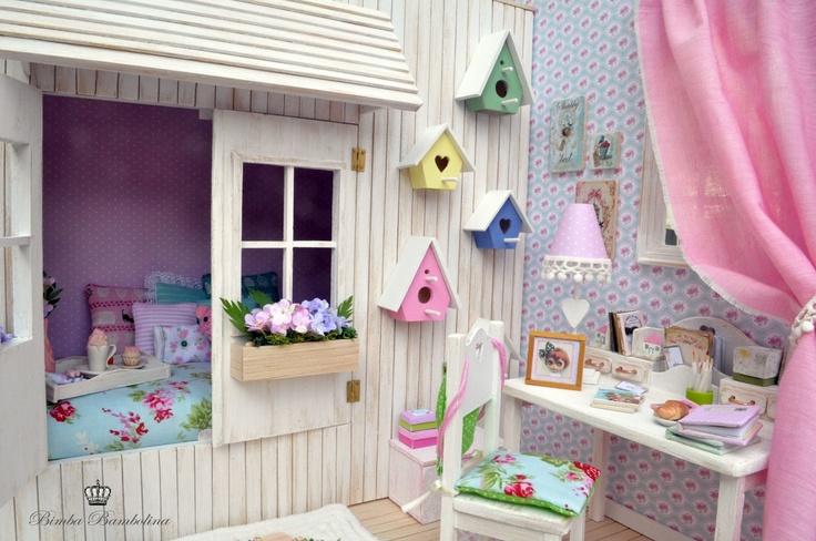 "Bimba Bambolina: OOAK Diorama ""Shabby Roses"" scale dolls 1:6 Blythe, Pullip, momoko, licca, yo-sd , barbie and monster high"