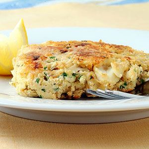 Crab Cakes | MyRecipes.com #myplate #grain #protein