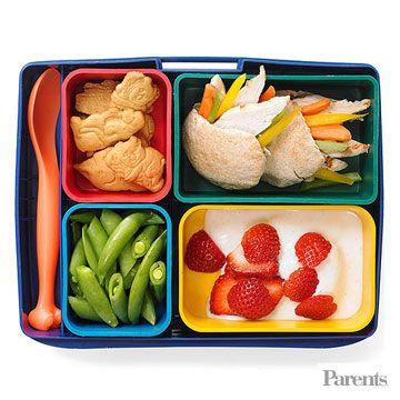 Use whole wheat pita pockets to create mini sandwiches.