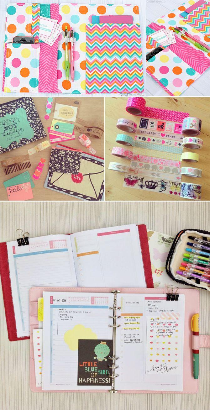 Cadernos para organizar a vida, com adesivos decorativos fica TOP! #ORGANIZAÇÃO.