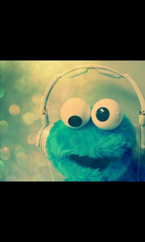 Headphones Cookie Monster And Elmo Image On We Heart It