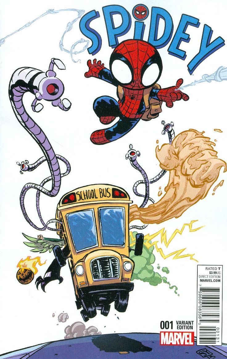 Spidey #1 Cover C Variant Skottie Young Baby Cover