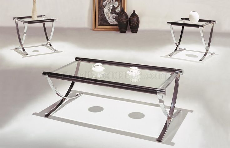 Chrome And Glass Coffee And End Tables