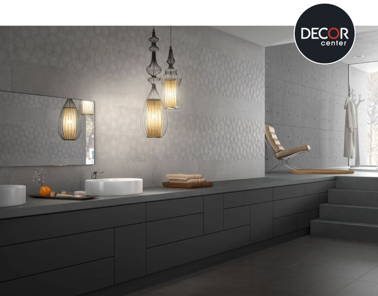 #Baño decorado con cerámicos  Saloni modelo Sunset Gris y Arkan Gris.  #interiordesign #decoración #tendencias #peru