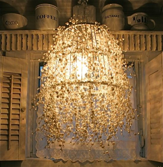 Holy handmade chandelier! Can you believe this is a DIY?! Check it out