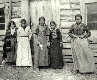 """Tahltan girls,"" Telegraph Creek, c. 1900. Photo: BC Archives (Andrew Stone)"