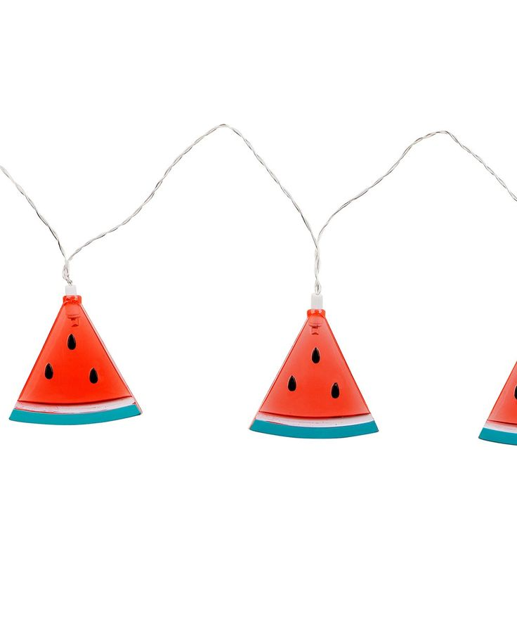 Get your watermelons in a row with the Watermelon String Lights. Use outdoors at a summer themed pool party that lasts all night long, or use indoors to create a playful mood. | huntingforgeorge.com