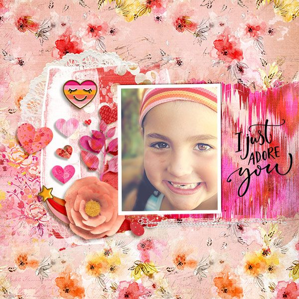 Michelle Collins- Love Struck Feb collection from hellodreamer Anna Aspnes - Artsy Layered template 80