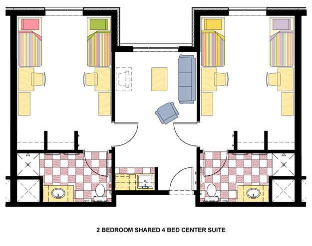 dorm room layout | The above image is the standard room layout ...