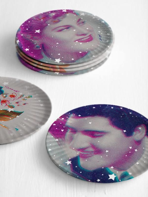 Alf Mabrouk Plates Collection Printed Plates Tea Party Plates