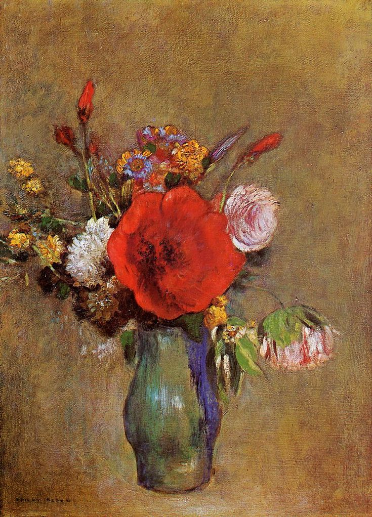 Vase of Flowers - Odilon Redon - WikiPaintings.org