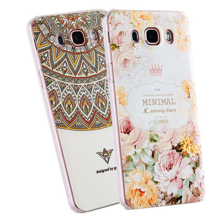 3D Relief Frosted PC Hard Back Cover Case For Samsung Galaxy J5 2016