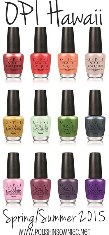 OPI Hawaii Collection s/s 2015