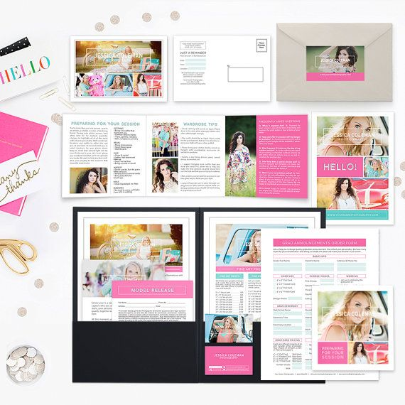 Senior Welcome Packet Photography Welcome by hazyskiesdesigns