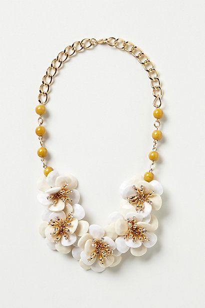 Camellia Bib Necklace #anthropologie