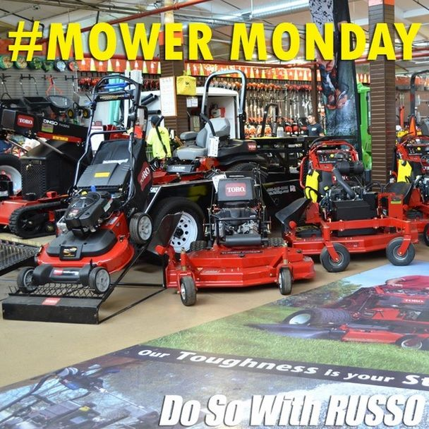 A Toro TimeMaster, Walk Behind, and Grandstand for Mower Monday #display #store #new #toro #mower #lawncare #landscaping