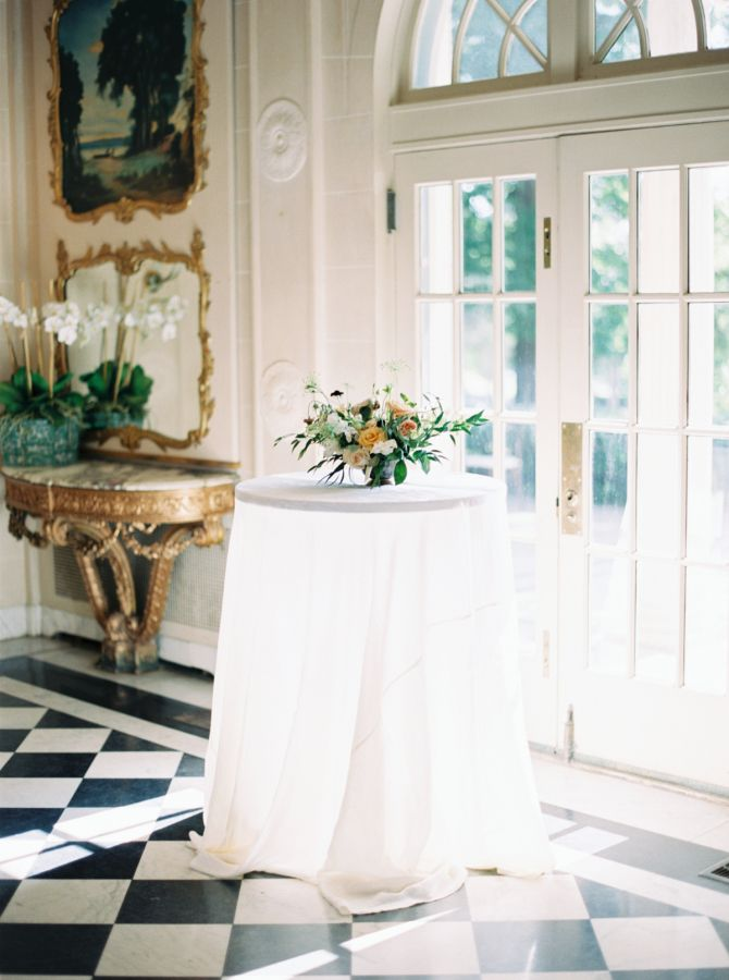 Elegant classic wedding decor: http://www.stylemepretty.com/2016/10/10/multicultural-catholic-buddhist-wedding/ Photography: Jill Dillender - http://jendillenderphotography.com/wp1/
