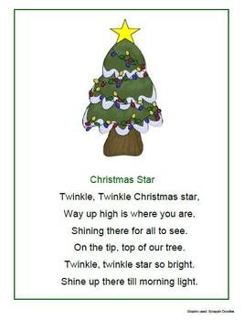Image detail for -Christmas Songs, Poems and Fingerplays - 1 - 2 - 3 Learn Curriculum ...