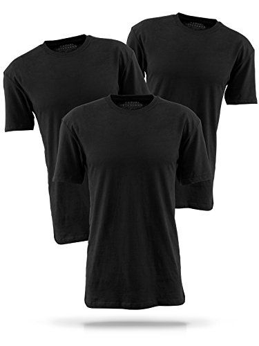 90bc8f458f Casual Standard básica Camiseta para Hombre Pack de 3 manga corta 100%  algodón cuello redondo