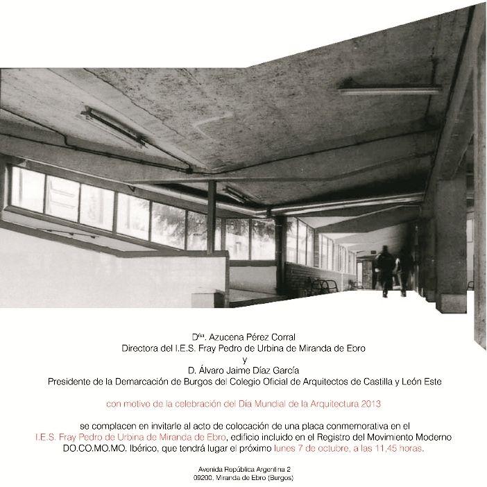 I.E.S. Fray Pedro de Urbina, obra del arquitecto José Antonio Corrales Gutiérrez