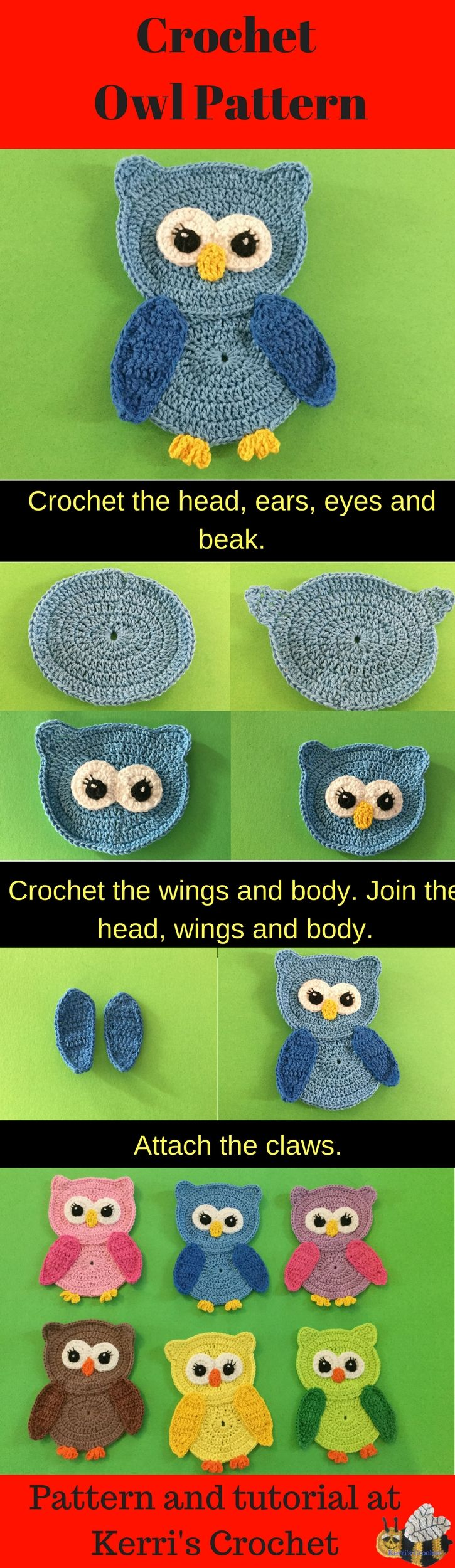 The 25 best crochet owl applique ideas on pinterest crochet crochet owl pattern bankloansurffo Gallery