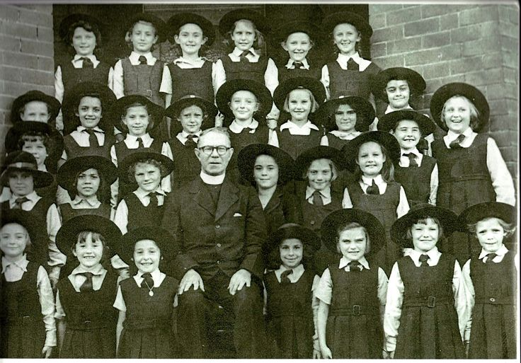 Fr. McGovern with 3rd. Class. St. Mary's. Erskineville.... mid 1950s