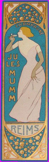 CHAMPAGNE JULES MUMM / gilded bookmark from the turn of the century - 1900 / Jules Mumm & Co. | Reims | France