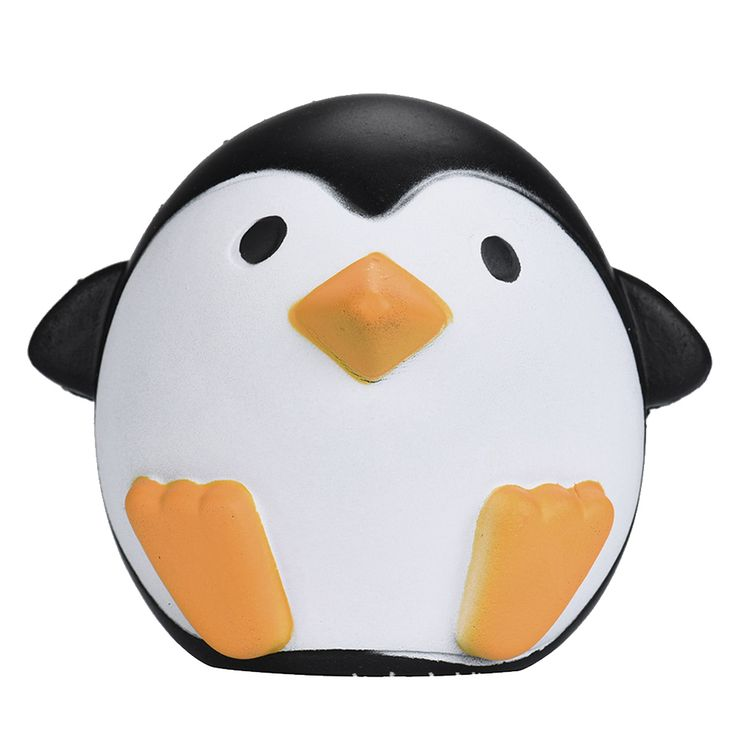 Besegad Cute Artificial Squishy Penguin Cream Scented Slow Rising Relieves Stress Anxiety Toy for Child Adult Anxiety Attention