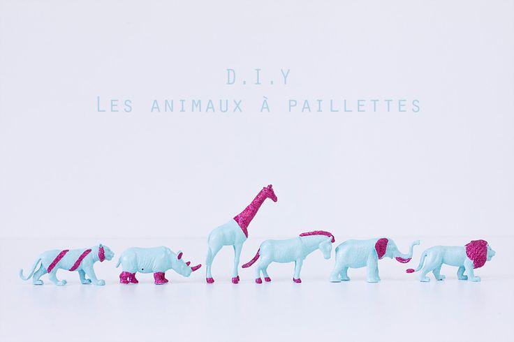 DIY-animaux-paillettes - Glitter