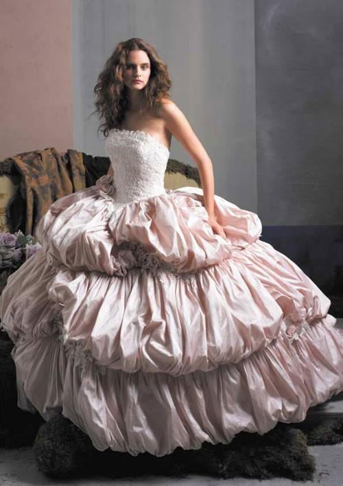 <3Wedding Dressses, Fashion, Lace Wedding Dresses, Pink Wedding Dresses, Gowns, Wedding Dresses Lace, Dreams Dresses, Pink Princesses, Justin Alexander