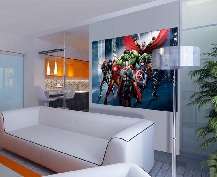 The Avengers Kids Wall Mural By WallandMore! Free Shipping Worldwide! Kids  Wall Decor For Part 75