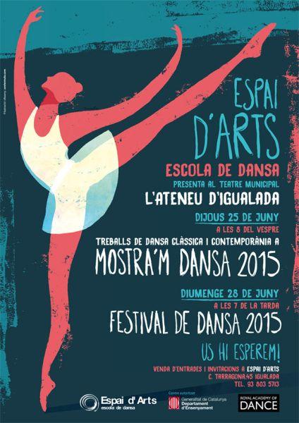 """""""Espai d'Arts"""" Dance festival poster"""
