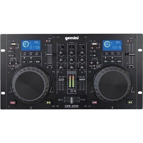 gemini - Dual CD/MP3/USB DJ Mixer & DJ Media Player - Larger Front
