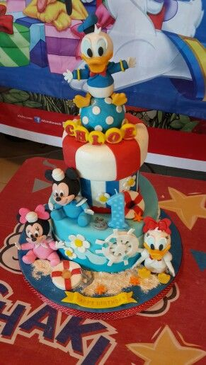 Baby disney birthday cake, sailor theme