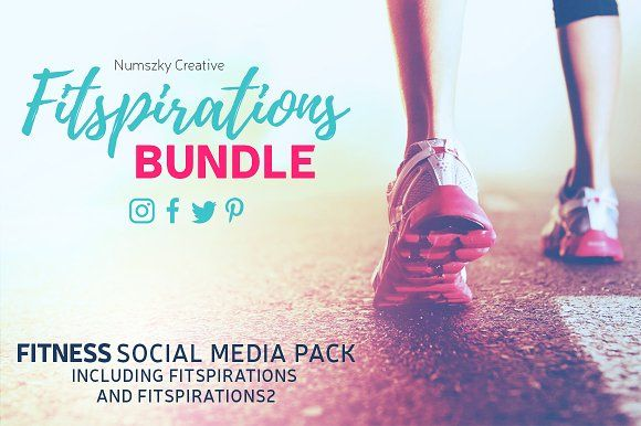 Fitspirations Bundle by Numszky Creative on @creativemarket