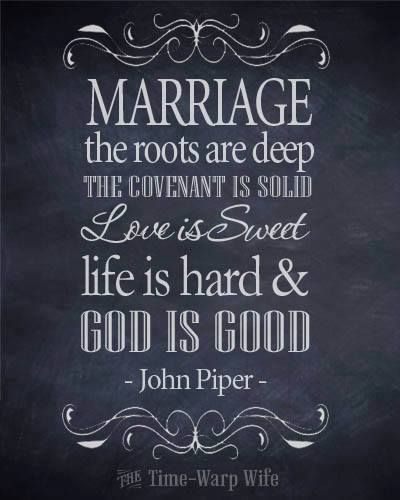 John Piper on marriage: