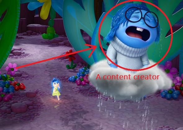 content writer sadness