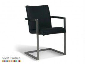 NASSOS #Stuhl #Esszimmer #Konferenzstuhl #Schwingstuhl #Leder & Edelstahl