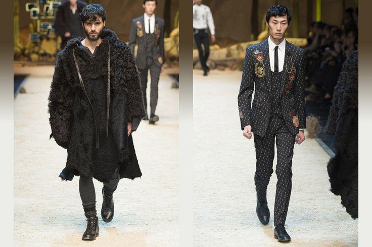 Мужская коллекция Dolce&Gabbana осень-зима 2016