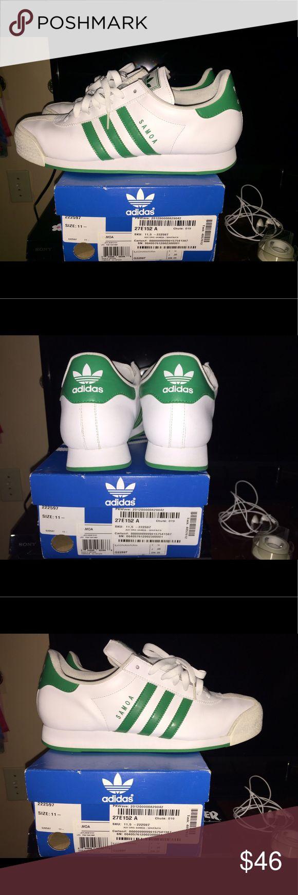 White/Green MEN Adidas Somas Adidas Somas white/gree 8.5/10 condition SIZE 11.5 Adidas Shoes Sneakers