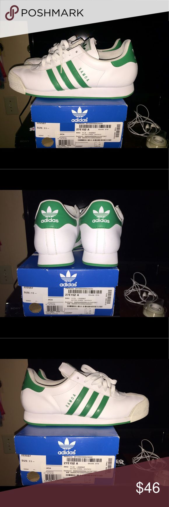 White/Green MEN Adidas Somas Adidas Somas white/gree 8.5/10 condition SIZE 11.5 Adidas Shoes Sneakers