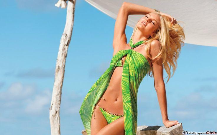 Elegant and fashionable blonde Candice Swanepoel
